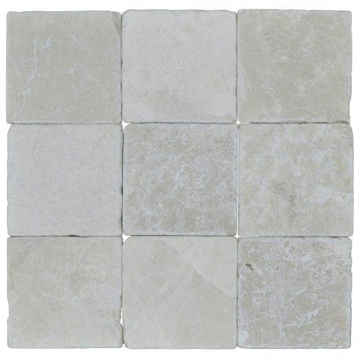 Botticino Beige Classic Tumbled Marble Mosaic Tiles 4x4 (1)