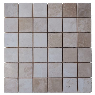 Botticino Beige Polished Marble Mosaic Tiles 2x2