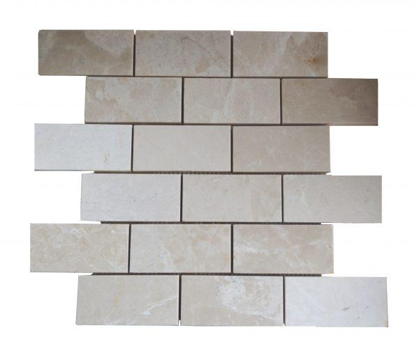 Botticino Beige Polished Marble Mosaic Tiles 2x4