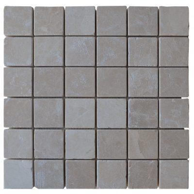 Botticino Beige Tumbled Marble Mosaic Tiles 2x2