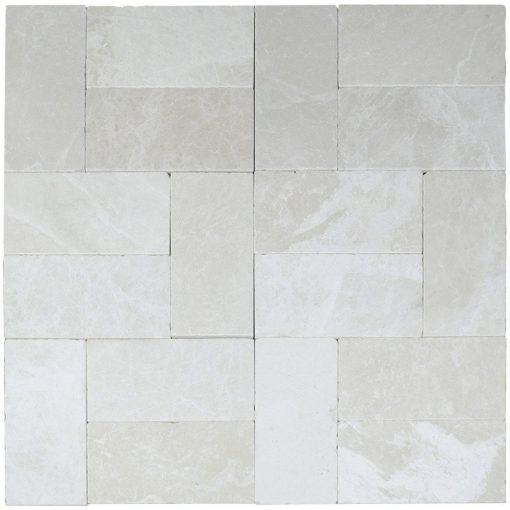 Botticino Tumbled Marble Pavers 6x12