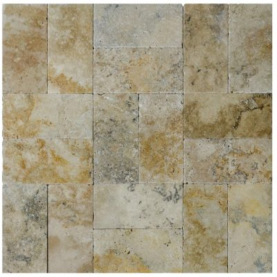 Country Classic Tumbled Travertine Pavers 6x12