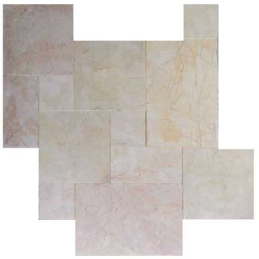 Cream Fantasy French Pattern Marble Pavers