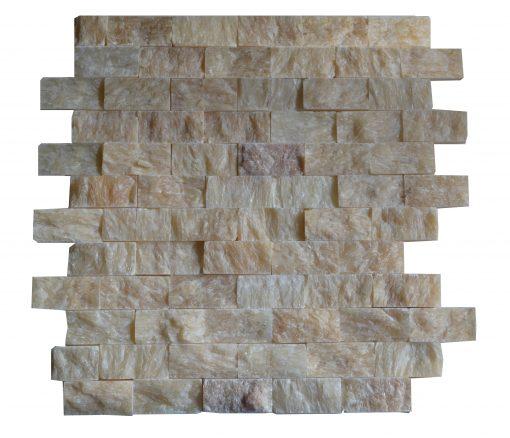 Honey Onyx Split Face Mosaic Tiles 1x2