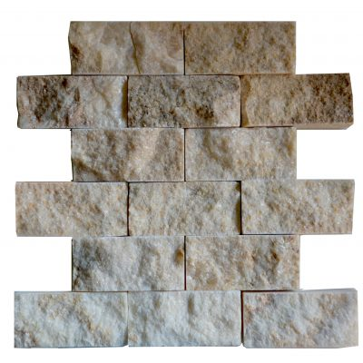 Honey Onyx Split Face Mosaic Tiles 2x4