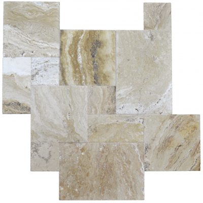 Leonardo Brushed Chiseled French Pattern Travertine Tiles-ATLANTIC STONE SOURCE