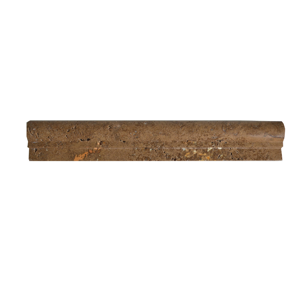 Noce Travertine Chair Rail Ogee 1-moldings sale-Atlantic Stone Source