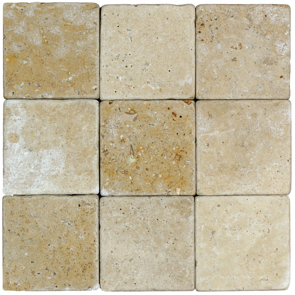 noce tumbled travertine mosaic tiles 4x4 natural stone