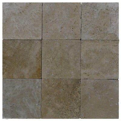 Noce Tumbled Travertine Pavers 8x8-pavers sale-Atlantic Stone Source