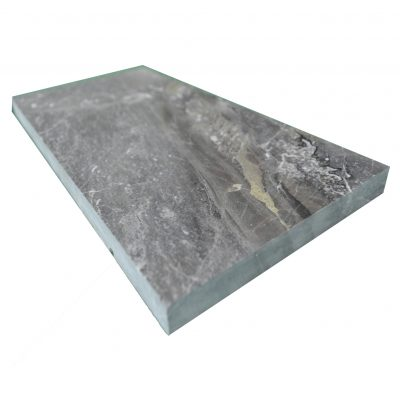 Silver Polished Marble Tiles 6x12