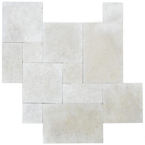 Super Light Tumbled French Pattern Travertine Pavers