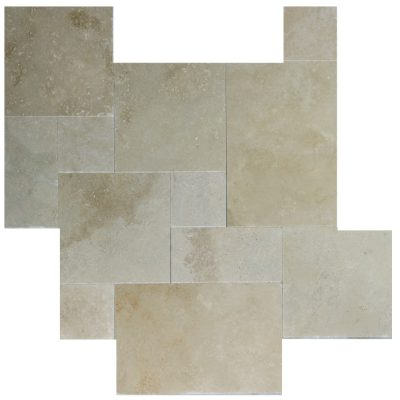 Toscana Tumbled French Pattern Travertine Pavers