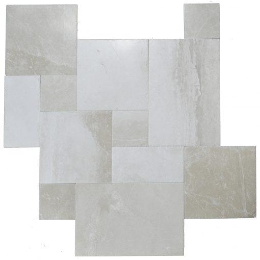 Botticino Beige Brushed Chiseled French Pattern Marble Tiles-marble tile sale-Atlantic Stone Source