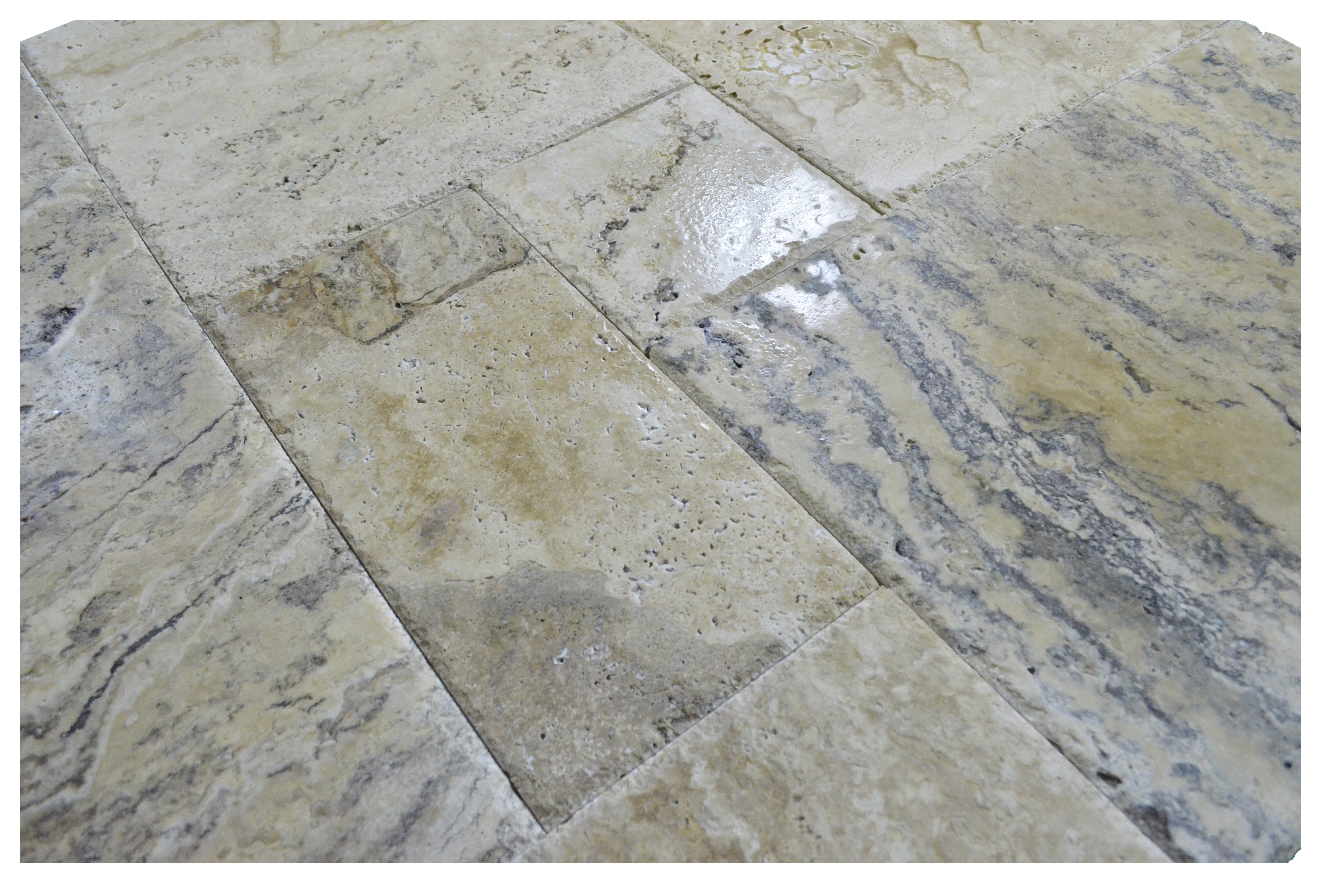What Are Travertine Tile : Philadelphia brushed chiseled french pattern travertine
