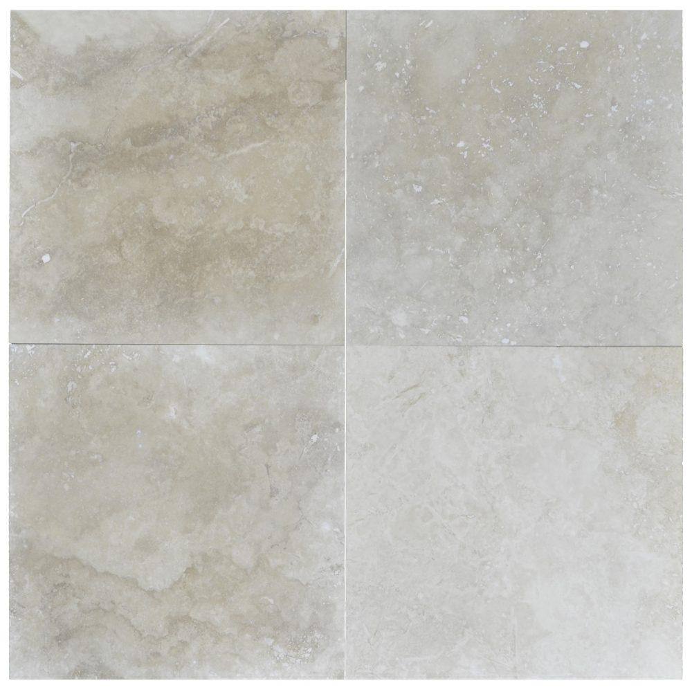 Ivory Travertine Tiles: Ivory Classic Light Honed Filled Travertine Tiles 18×18