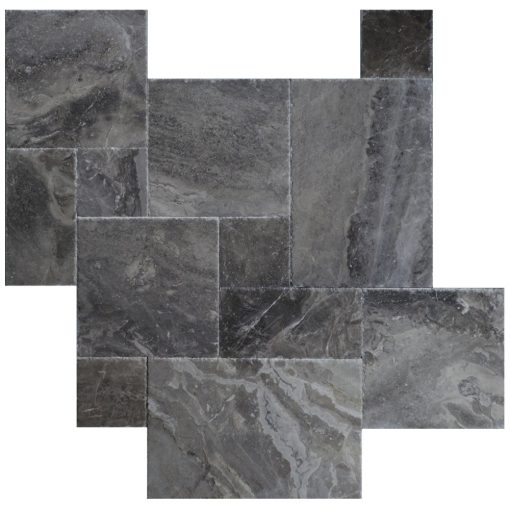 Silver Gray Brushed Chiseled French Pattern Marble Tiles- marble sale-Atlantic Stone Source