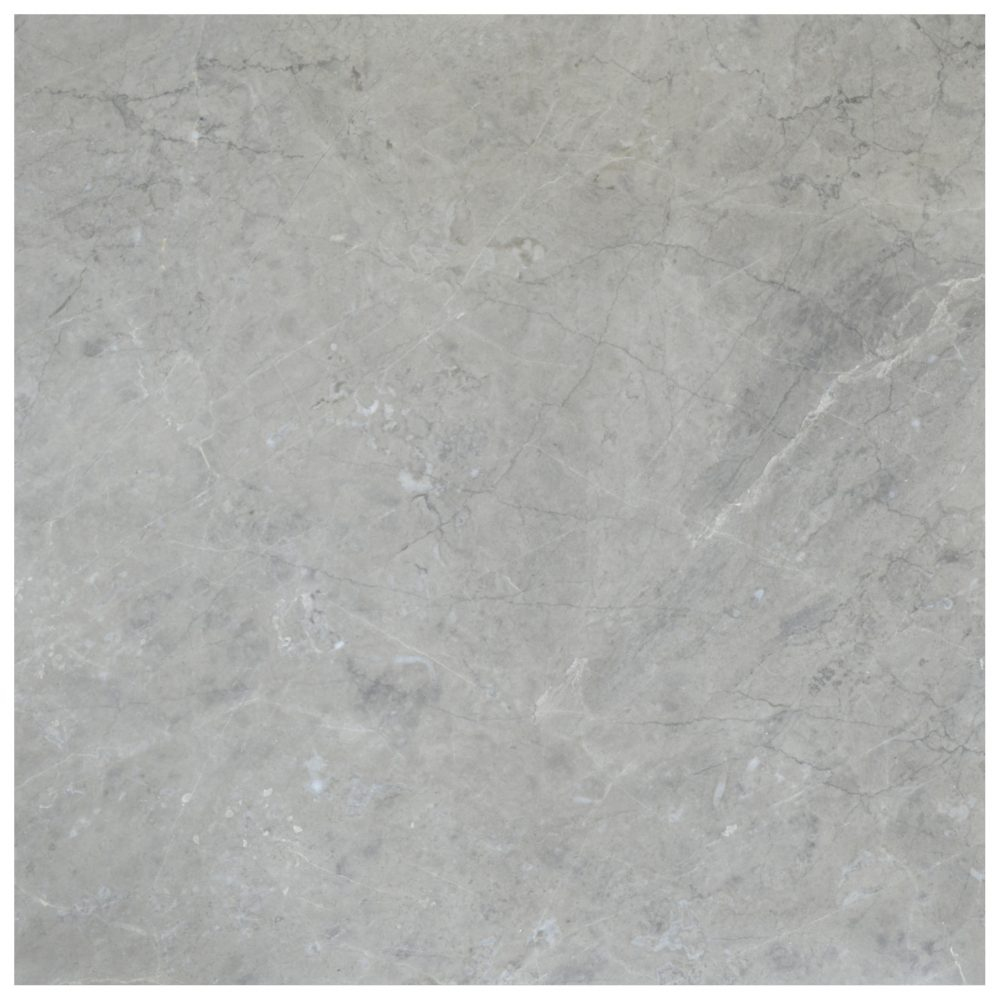 Silver Gray Polished Marble Tiles 18x18