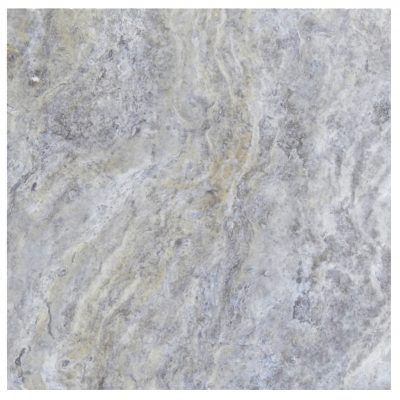 Silver Honed Filled Travertine Tiles 18x18