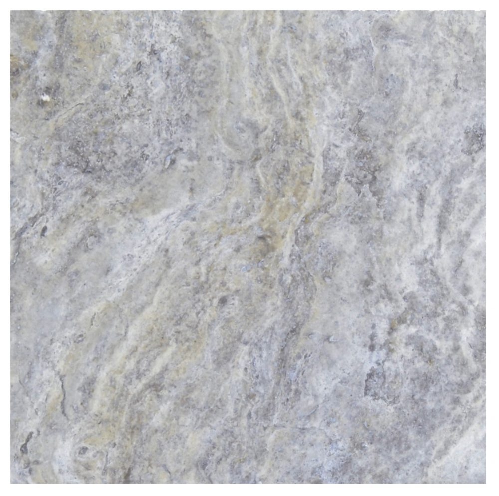 Silver Honed Filled Travertine Tiles 18×18