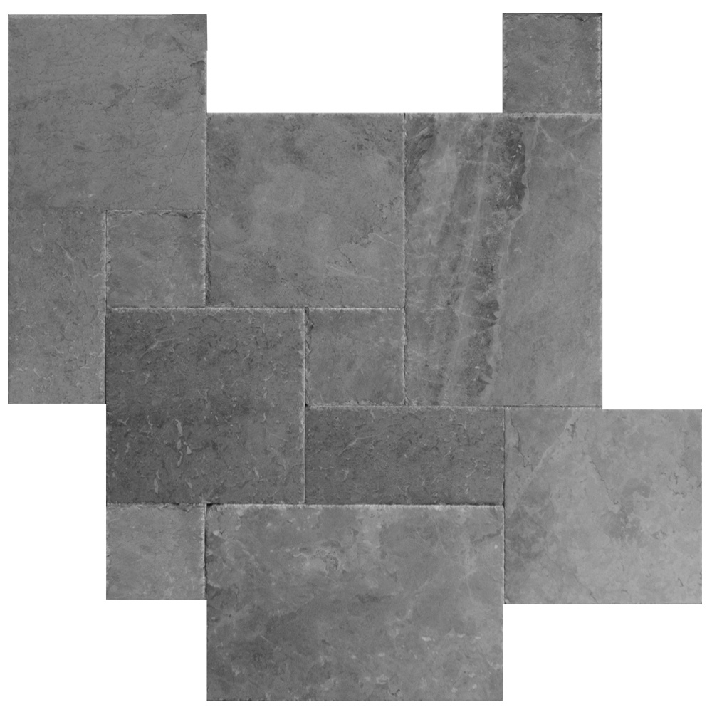 Silver Brushed Chiseled French Pattern Marble Tiles -marble sale-Atlantic Stone Source
