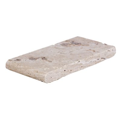 Leonardo Bullnose Travertine Pool Copings 6x12-pool copings sale-Atlantic Stone Source