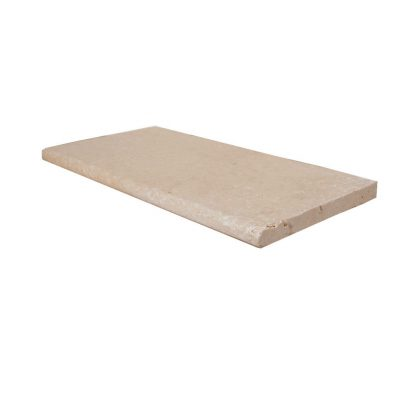 Super Light Bullnose Travertine Pool Copings 12x24-pool copings sale-Atlantic Stone Source
