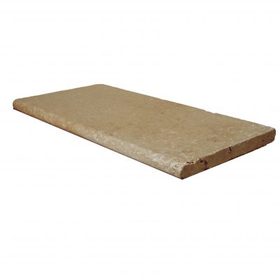 Walnut Bullnose Travertine Pool Copings 12x24-pool copings sale