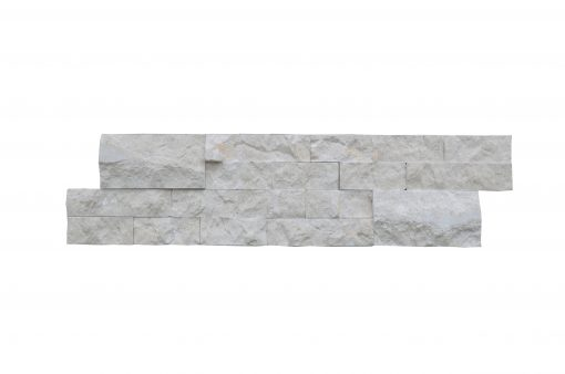 Botticino Beige Linear Split Face Marble Mosaic Tiles 6x24