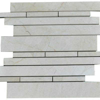 Crema Nouva Polished Marble Linear Mosaic Tiles