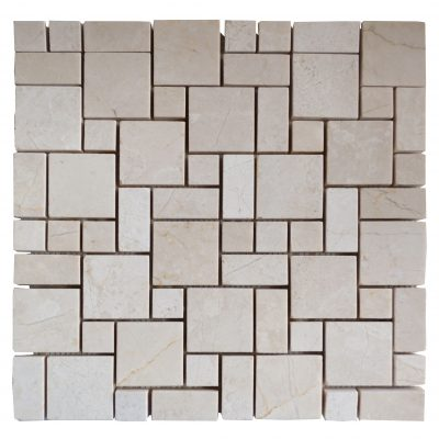 Crema Nouva Polished Mini French Pattern Mosaic Tiles