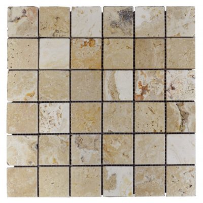 Leonardo Tumbled Travertine Mosaic Tiles 2x2