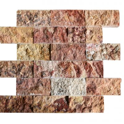 Scabas Split Face Travertine Mosaic Tiles 2×4