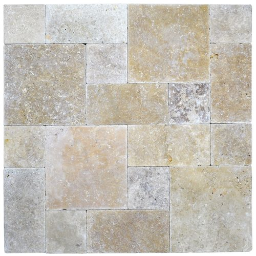 Walnut Roman Pattern Tumbled Pavers-pavers sale-Atlantic Stone Source