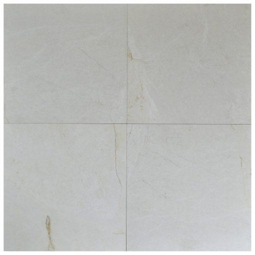 Alaskan White Polished Marble Tiles 24x24