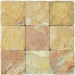 Antique Blend Tumbled Travertine Mosaic Tiles 4x4