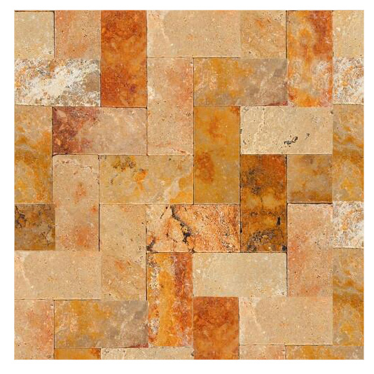 Antique Blend Tumbled Travertine Pavers 6x12