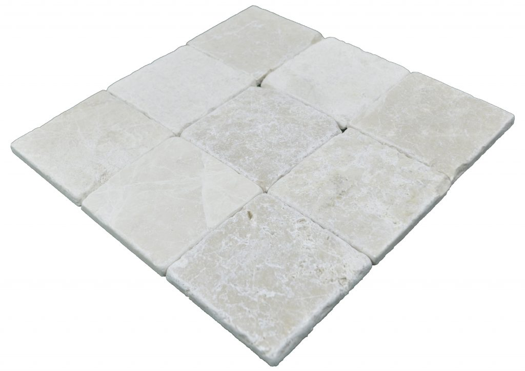 Botticino Beige Classic Tumbled Marble Mosaic Tiles 4x4
