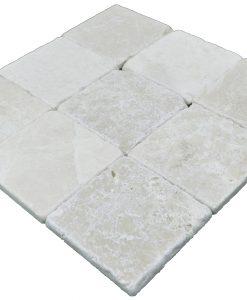Botticino Beige Classic Tumbled Marble Mosaic Tiles 4x4 (2)