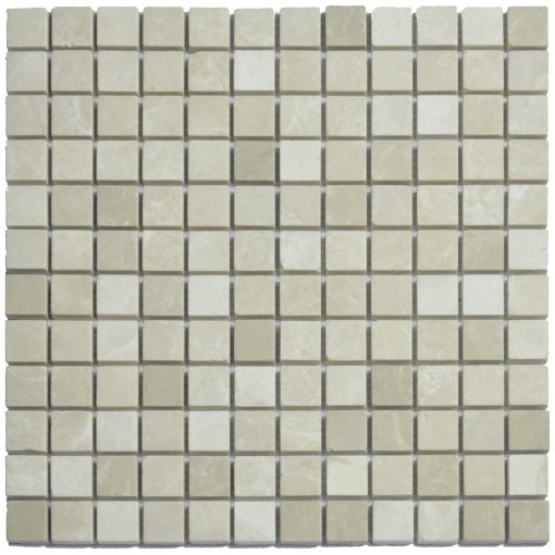 Botticino Beige Polished Marble Mosaic Tiles 1×1