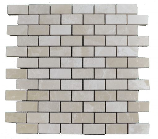 Botticino Beige Polished Marble Mosaic Tiles 1x2