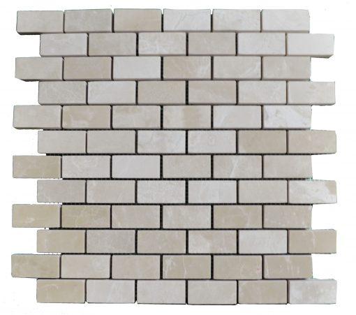 Botticino Beige Polished Marble Mosaic Tiles 1x2