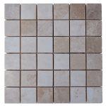 Botticino Beige Polished Marble Mosaic Tiles 2x2