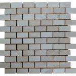 Botticino Beige Tumbled Marble Mosaic Tiles 1x2
