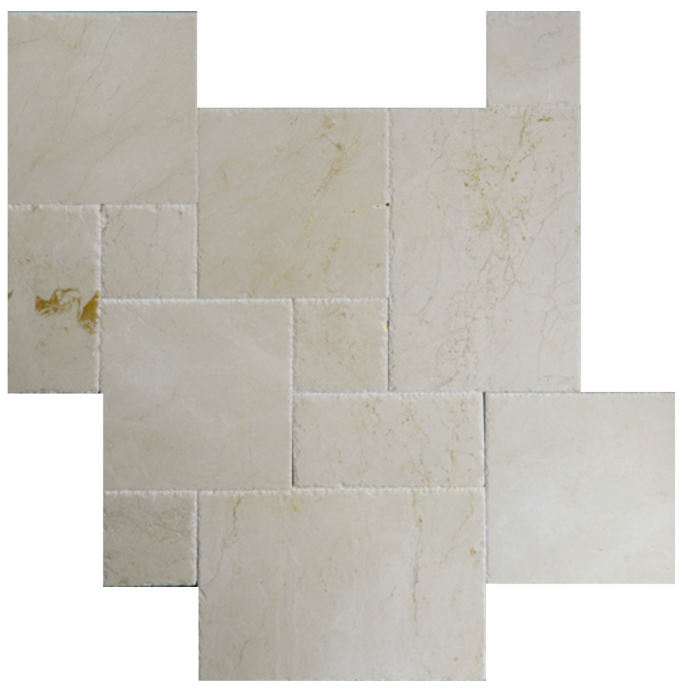 Marble Tiles Product : Cream fantasy brushed chiseled french pattern marble tiles