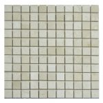 Cream Nouva Polished Marble Mosaic Tiles 1×1