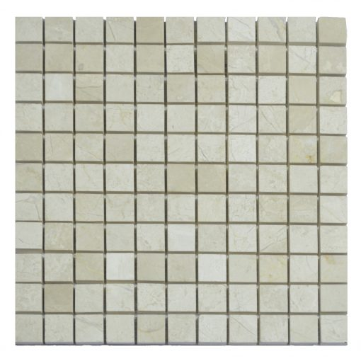 Cream Nouva Polished Marble Mosaic Tiles 1×1
