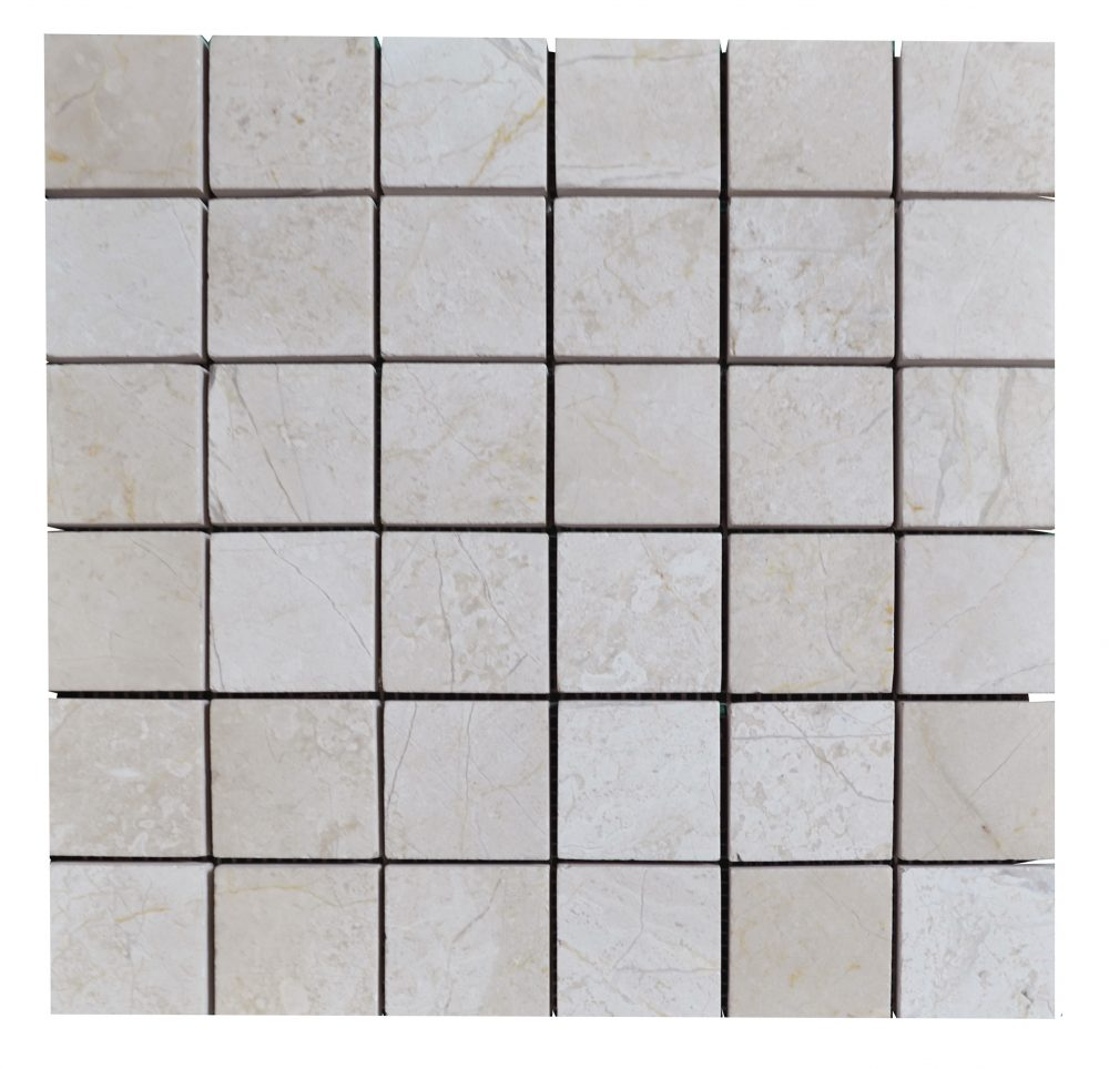 Cream Nouva Polished Marble Mosaic Tiles 2x2