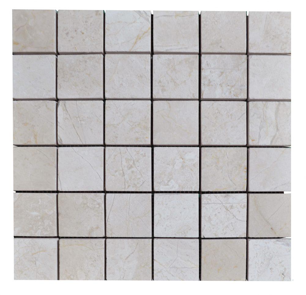 Cream Nouva Polished Marble Mosaic Tiles 2x2