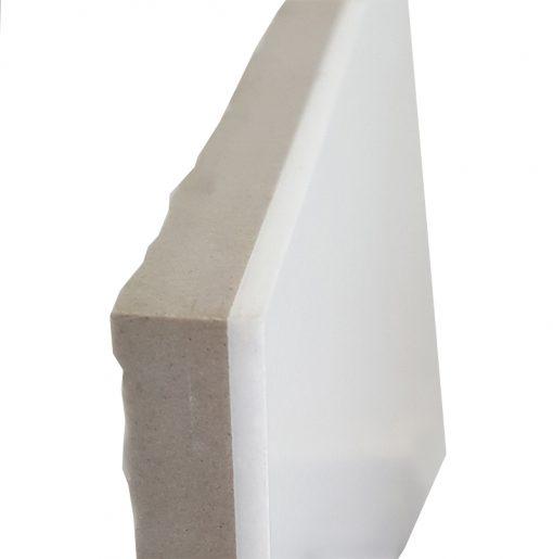 White Glass Porcelain Backing Polished Tiles 40x40