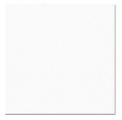 White Glass Porcelain Backing Polished Tiles 40x40